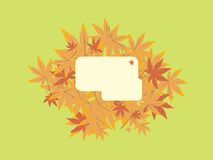 Leaf note green. A green design that has taken hints from the autumn Royalty Free Stock Photos