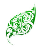 Leaf ornament with decorative swirls Royalty Free Stock Photo