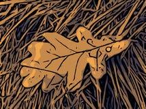 Leaf på gräset arkivbild