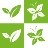 Leaf Pair Icon Vector Illustrations Royalty Free Stock Photos