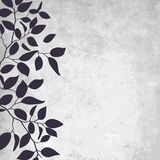 Leaf pattern. Abstract grunge background with elegance leaf pattern. Vector Royalty Free Stock Photography