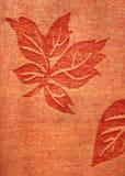 Leaf Pattern. Leaf motifs on a piece of fabric Royalty Free Stock Image