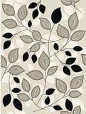 Leaf pattern. Easy interlock leaf sample in pastel colors Royalty Free Stock Photos