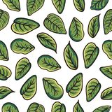 Leaf pattern, for decoration, background and for all needs stock illustration