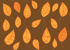 Leaf pattern in doodle style Royalty Free Stock Photography