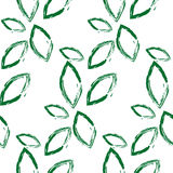Leaf pattern. Green leaf pattern including seamless sample in swatch panel Royalty Free Stock Image