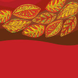 Leaf pattern in shades of red Royalty Free Stock Photography