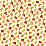 Leaf pattern on tan Stock Photography