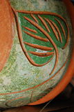 Leaf pattern on thai pot design Stock Image