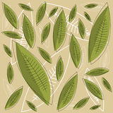 Leaf pattern vector Royalty Free Stock Photo