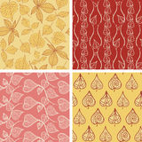 Leaf patterns collection Royalty Free Stock Photo