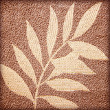 Leaf patterns on the fabric Royalty Free Stock Images