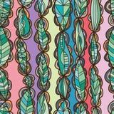 Leaf petal connect vertical seamless pattern. This illustration is drawing leaf stick of petal circle and connect in vertical with seamless pattern decoration royalty free illustration