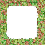 Leaf photo frame border Royalty Free Stock Images