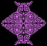 Leaf pink design on black Royalty Free Stock Photos