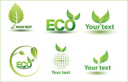Leaf,plant,logo,ecology,people,wellness,green,leaves,nature symbol icon set of vector designs Stock Photo