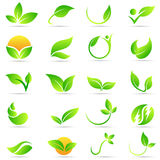 Leaf Plant Logo Wellness Nature Ecology Symbol Vector Icon Design. Stock Images