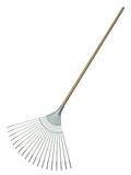 Leaf rake. Isolated on white background. 3D render stock illustration