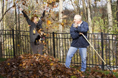 Leaf Raking Royalty Free Stock Photography