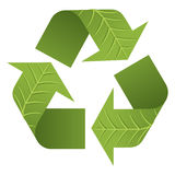Leaf Recycle Logo. The iconic Recycle Logo formed by green leaves Royalty Free Stock Photos