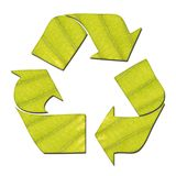 Leaf Recycle Sign Stock Photo