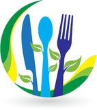 Leaf restaurant logo Royalty Free Stock Image
