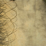 Leaf and rope divider grunge wall background Stock Photos