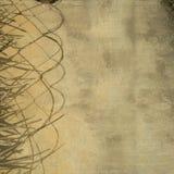 Leaf and rope divider grunge wall background. Leaf and rope divider on grunge wall background vector illustration