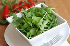 Leaf salad in a bowl Stock Image