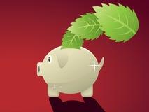 Leaf Saving Bank Stock Images