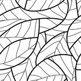 Leaf seamless pattern Stock Image