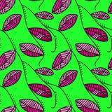 Leaf Seamless Pattern Background Stock Image