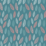 Leaf seamless pattern background. Leaf textile pattern. Royalty Free Stock Photo