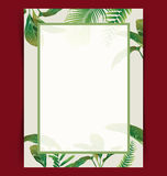 Leaf seamless pattern. Tropical palm leaves pattern  card Royalty Free Stock Photos