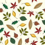 Leaf seamless pattern. Royalty Free Stock Photo