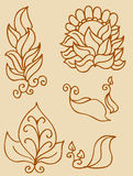 Leaf Set. A hand drawn leaf set Stock Photos