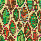 Leaf shape seamless pattern Stock Images