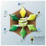 Leaf Shape Three Dimension Polygon Ecology And Environment Infog Stock Photo