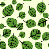 Leaf Shapes Seamless Pattern Stock Photography