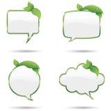 Leaf Speech Bubbles Stock Image