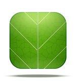 Leaf Square Icon Royalty Free Stock Image