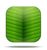 Leaf Square Icon Stock Photo