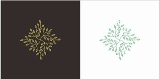 Leaf Square with Luxury style stock illustration