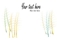 Leaf stalks gold and jewelry concept on white background,Vector illustration Royalty Free Stock Photos
