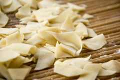Leaf surface. China`s relatively rare pasta, noodles Stock Images