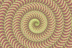 Leaf swirl abstract pattern background Royalty Free Stock Photos