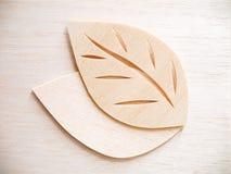 Leaf symbol logo concept, wood cutting design illustration icon. Sign Royalty Free Stock Photo