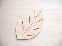 Leaf symbol logo concept, wood cutting design illustration. Icon sign Stock Photo