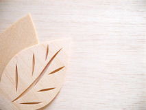 Leaf symbol logo concept, wood cutting design illustration icon Royalty Free Stock Images