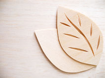 Leaf symbol logo concept, wood cutting design illustration icon Royalty Free Stock Photo